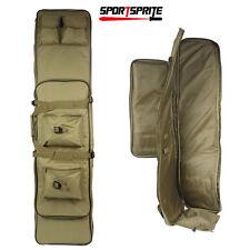"47"" Dual Rifle Bag Double AR15 Carbine Gun Storage Tactical Case Tan"