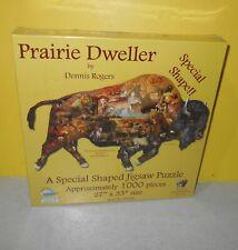 Prairie Dweller by Dennis Rogers 1000 Piece SunsOut Jigsaw Puzzle Buffalo Shape