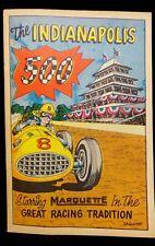 1957 INDIANAPOLIS 500 * MARQUETTE Program COMIC / MAGAZINE * (UNTOUCHED) INDY