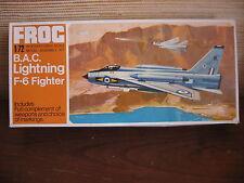 MAQUETTE 1/72 VINTAGE FROG REF F 266 BAC LIGHTNING F6  AVION