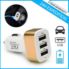 Best 3x Port Triple USB A+ Auto lader Car Charger Oplader Chargeur Voiture Gold