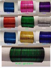 New Indian Bollywood 12 Piece Plain Bangle Set Multiple Colours