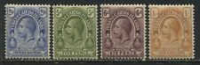 Turks & Caicos KGV 1921 2 1/d to 1/  mint o.g.