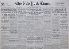 DILLINGER  BONNIE & CLYDE 4-1934 April 7 RIOTING MINNEAPOLIS MOB - COLOGNE RHINE