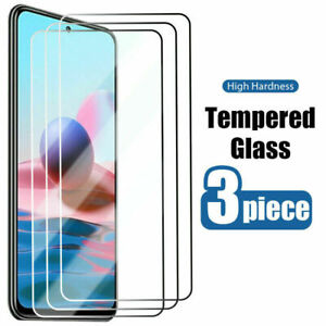 3Pcs Tempered Glass Screen Protector For Xiaomi Redmi Note 10 Pro 10S 9S 6 7 8 9