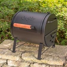 "Tabletop Charcoal Grill Smoker BBQ Side Fire Box Cast iron Grates 250""sq NEW"