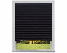 Original Blackout Pleated Paper Shade Black, 48� x 72�, 6-Pack, New, Free Shippi