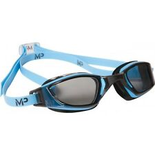 Aqua Sphere Michael Phelps Swimming Goggles Blue Dark Lens Double Strap