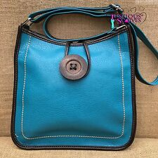 Onorevoli Turchese a tracolla ecopelle Big Button Fashion SHOULDER BAG