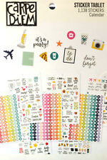 Carpe Diem CALENDAR  - A5 PLANNER STICKER TABLET - 12 sheets (1138 Stickers!)