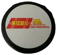 GUELH STORM VINTAGE RARE MICWIL  SPONSOR OFFICIAL INGLASCO HOCKEY PUCK - CANADA