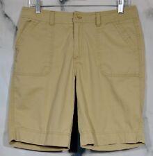 ST. JOHN'S BAY PETITE Khaki Tan Shorts 10P 100% Cotton Four Pockets Summer