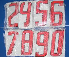 100 numeri misti milan 2007-2008 numero rossi x maglia milan adidas nuovo nuovi