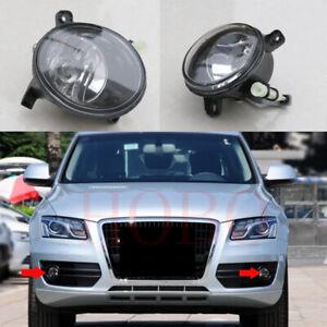 2Pcs For Audi Q5 2009-2012 Car Front Left Right Fog Light Lamp Cover Frames Bulb