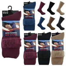 3 Pairs Mens Lounge Socks Thick Warm Cosy Feet Brushed Thermal Fleece Bed Socks