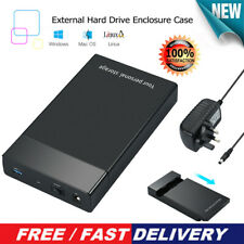 USB 3.0 to 3.5inch SATA III 5Gbps External Hard Drive Disk HDD Enclosure Case UK