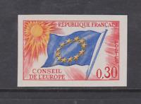 FRANCE SERVICE NON DENTELE  N**  YT 30 COTE 55€ env CONSEIL DE L'EUROPE DRAPEAU