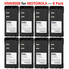 8x Hnn9008 Radio Battery for Motorola Pro5150 Ht1250 Ht1550 Ht750 Gp32 Hnn9009