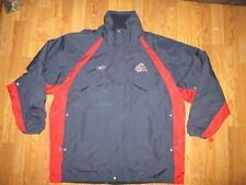 Mens REEBOK NHL Columbus Blue Jackets reversible fleece lined jacket sz XL