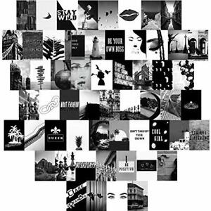Black and White Photo Art Pictures Collage Kit for Teen Girls and Women