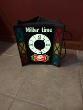 Vintage Miller Time Miller High Life Beer Lighted Clock Sign