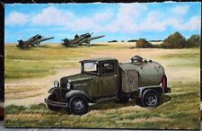 "Soviet Portrait, painting,oil on canvas - ""Car for refueling military aircraft""."
