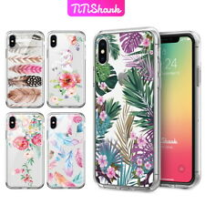 iPhone X 8 7 6 Plus Case TiTishark Floral Flower Hybrid Pattern Clear Print Cove