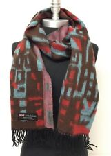 New Women's Winter Warm 100% Cashmere Scarf Wrap SCOTLAND Color Brown/Red/Blue