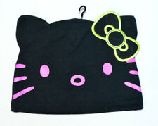 Hello Kitty By Sanrio Hat Beanie Cap with Cat Ears Girls Black Loungefly