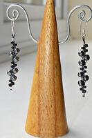 EARRINGS Hematite Round Style Semi Precious Stone Fair Trade Cluster Handmade