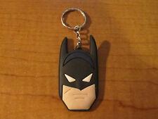 BATMAN Automobile Keychain Key Chain PVC Rubber FOB Metal Ring DC Comics
