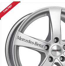 Mercedes - Benz Car Alloy Wheel, Window,Wing Mirror, Decal Logo Vinyl Sticker x5