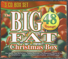 THE BIG FAT CHRISTMAS BOX - 48 SONGS - NEW SEALED 3 CD BOX SET