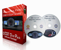 2 CD PACK + OBD 1 & OBD 2 CAR DIAGNOSTIC SOFTWARE + ECU BHP TUNING REMAPPING