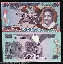 TANZANIA 20 SHILLINGS 1987 LOT GIRAFFE OLYMPIC TORCH UNC CURRENCY MONEY 10 NOTE