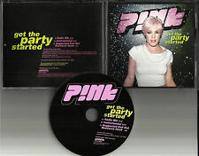 PINK Get the Party Started w/ RARE MIX & INSTRUMENTAL USA PROMO DJ CD Single 01