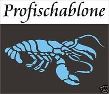 Schablone, Wandschablone, Wanddekor, Malerschablone, Kindermotiv, Lobster