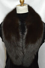 Real Brown Fox Fur Collar Detachable New  (made in the U.S.A.)