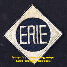 LMH PATCH Badge  ERIE Lackawanna EL  Delaware DL&W Railroad White Navy Blue used
