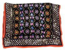 76789 New Mais Il Est Ou Le Soleil Embellished Embroidered Shawl Scarf Stole FS