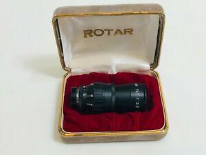 Vintage Rotar 1 1/2 Telephoto F 2.5 Screw Mount Lens w/Original Case