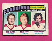 1976-77 OPC # 217 CANADIENS DOUG JARVIS TOP LINE ROOKIE VG+ CARD (INV# C3572)