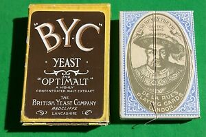 TAX WRAPPED Old Antique * BYC YEAST  Beer Brewery Advertising Pack Playing Cards