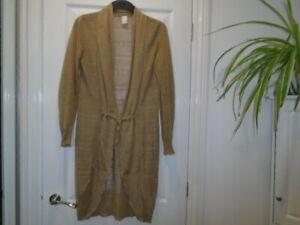 Gorgeous beige longer length lightweight long sleeve cardigan, VILA, size XS, 10