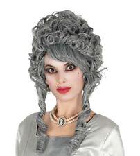 Parrucca grigia marchesa draculessa con boccoli per travestimento horror