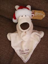 Boofle puppy dog comforter blankie Baby's First Christmas Xmas xxx Blanket NEW