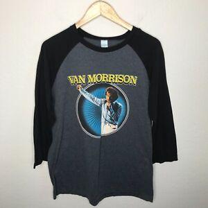 Van Morrison Live In Concert Graphic Half 3/4 Sleeve Shirt Men's Size Large
