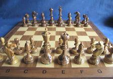 altes Schachspiel Holz massiv schöne Schnitzarbeit