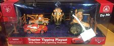 Cars Tractor Tipping Play Set With Mater Lightning McQueen Disney Theme Parks