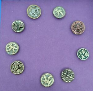Small lot antique metal buttons #5